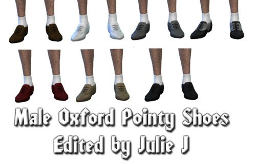 Sims 4 Male Oxford Pointy Shoes Edited at Julietoon – Julie J