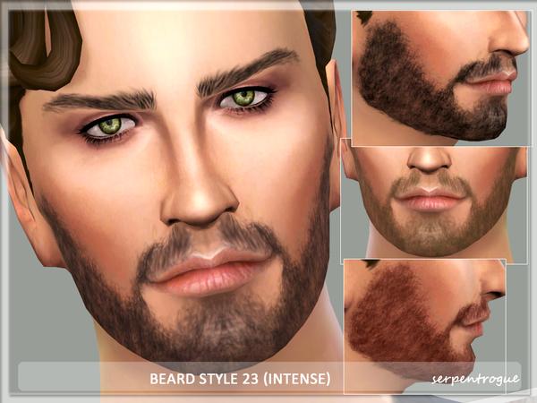 Sims 4 Beard Style 23 intense by Serpentrogue at TSR
