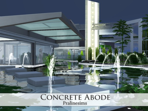 Sims 4 Concrete Abode by Pralinesims at TSR