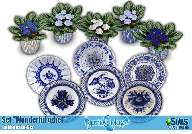 Wonderful gzhel set at Maruska Geo image 233 670x467 Sims 4 Updates