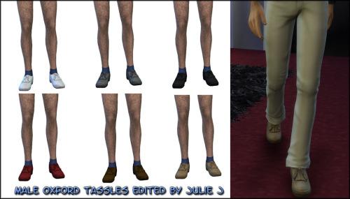 Sims 4 Male Oxford Fringe Edited at Julietoon – Julie J