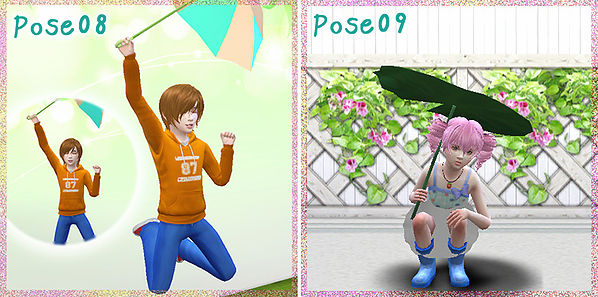Lotus Leaf Umbrella Poses At A Luckyday 187 Sims 4 Updates