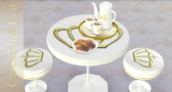 Sims 4 TEA TIME LQ set at Caramelize