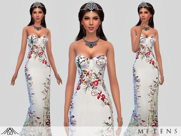 Sims 4 Venus Dress by Metens at TSR