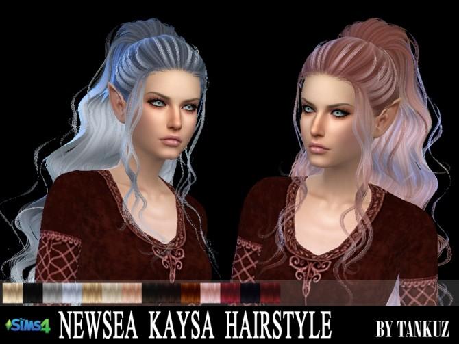 Sims 4 Newsea Kaysa Hair retexture at Tankuz Sims4