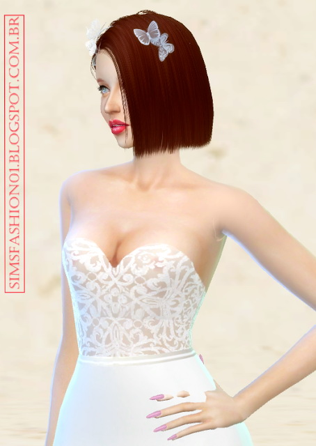 Wedding dress with silver belt at Sims Fashion01 image 2434 Sims 4 Updates