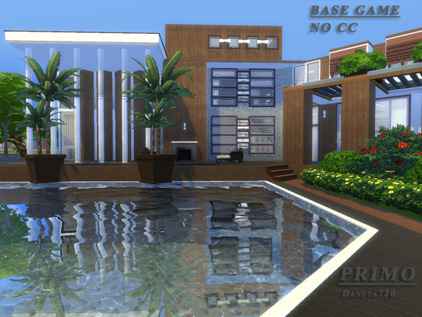 Primo house by danuta720 at tsr sims 4 updates for Big modern house sims 4