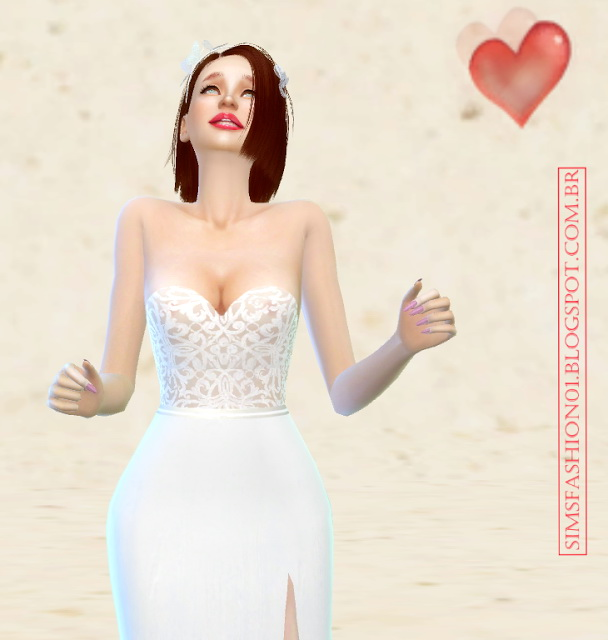 Wedding dress with silver belt at Sims Fashion01 image 2444 Sims 4 Updates