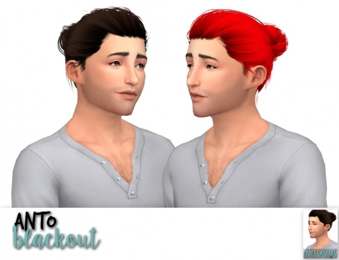 Sims 4 Anto amanda + blackout + dynasty hair retexture at Nessa Sims