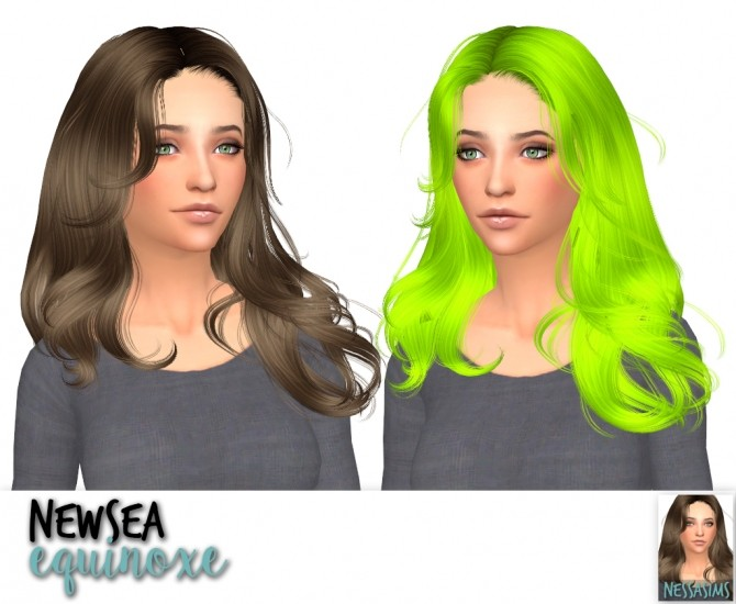 Sims 4 Newsea equinoxe + soledad + voyage hair retexture at Nessa Sims