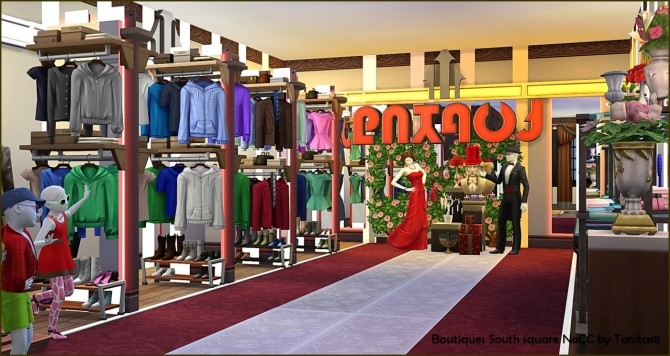 Sims 4 Boutiques on South square at Tanitas8 Sims