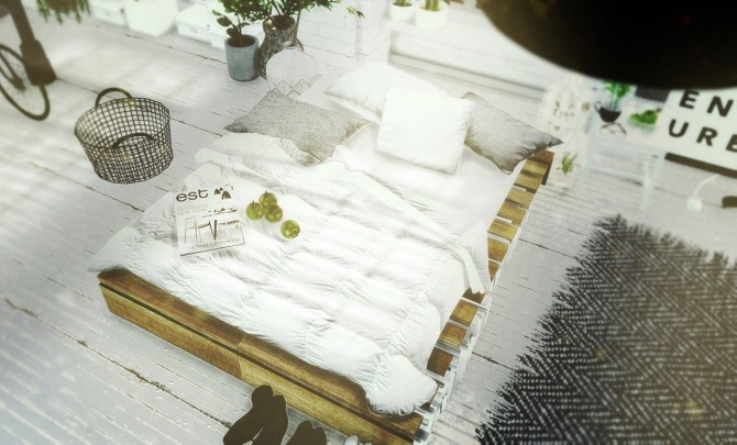 DIY Rustic Pallet Bed Part 2 at MXIMS image 2489 670x405 Sims 4 Updates
