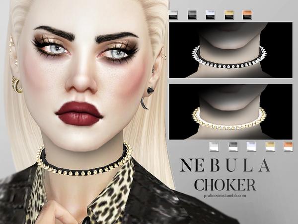 Sims 4 Nebula Choker Female by Pralinesims at TSR