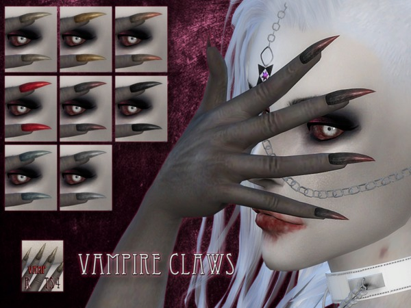 Sims 4 Vampire claws by RemusSirion at TSR