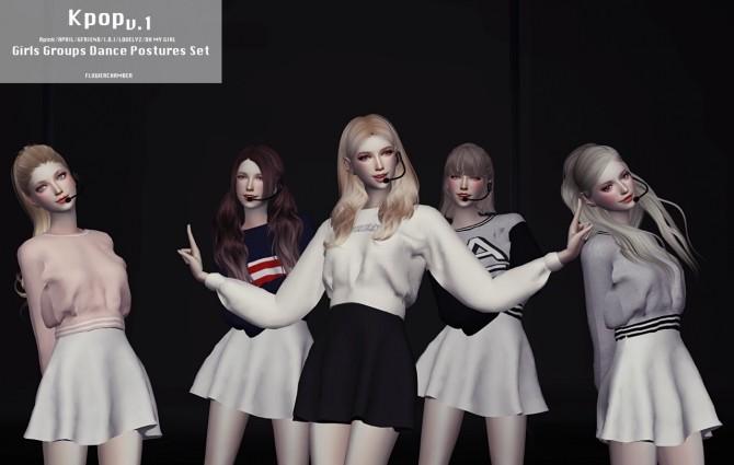Sims 4 Kpop Dance Postures Set V.1 at Flower Chamber