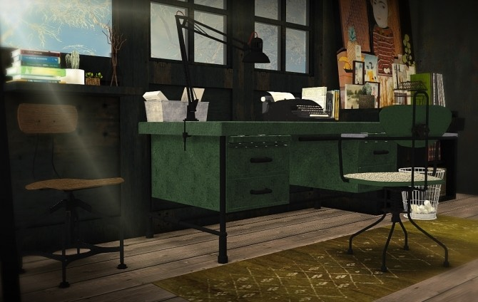 Antique Industrial Office Set 8 At Mxims 187 Sims 4 Updates