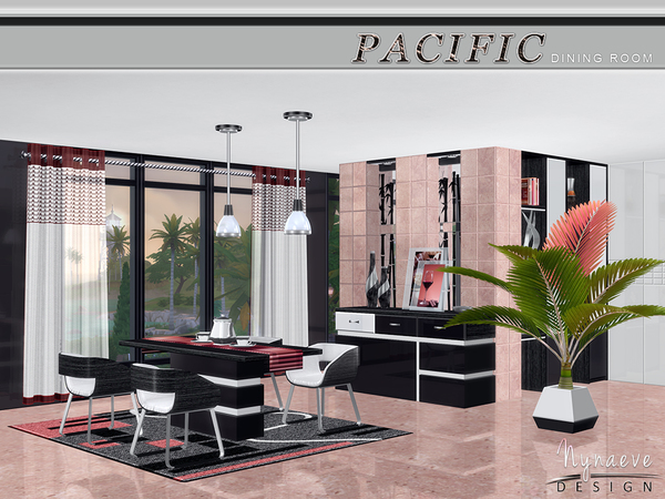 Pacific heights dining room by nynaevedesign at tsr sims for Sims 3 dining room ideas
