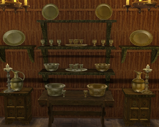 Sims 4 Silverware conversion from SKYRIM at Mara45123