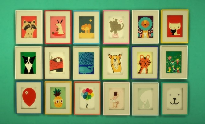 Sims 4 Wall art for kids at Budgie2budgie