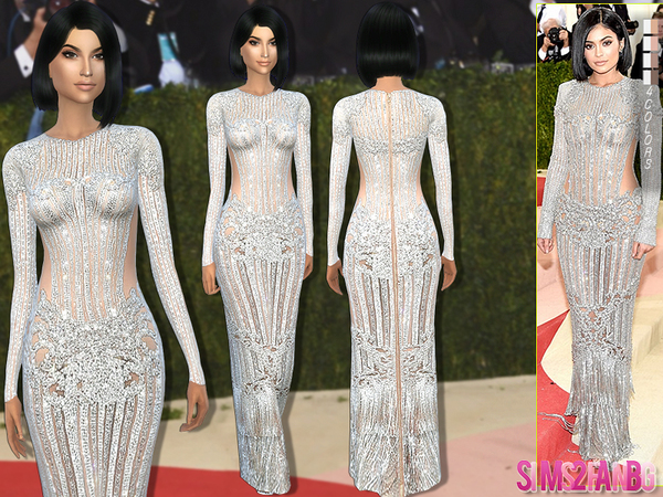 Sims 4 Kylie Jenner Met Gala16 Dress by sims2fanbg at TSR