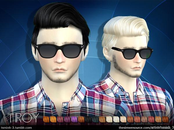 Sims 4 TROY Hair 6 by tsminh 3 at TSR
