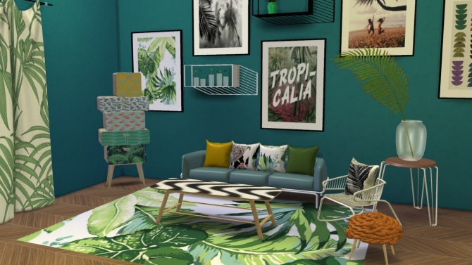 Urban jungle set at meinkatz creations sims 4 updates for Decoration urban jungle