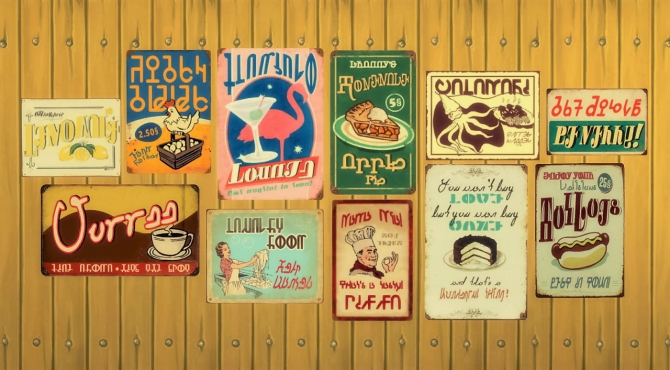 Vintage Signs Wall Deco Stickers At Budgie2budgie 187 Sims