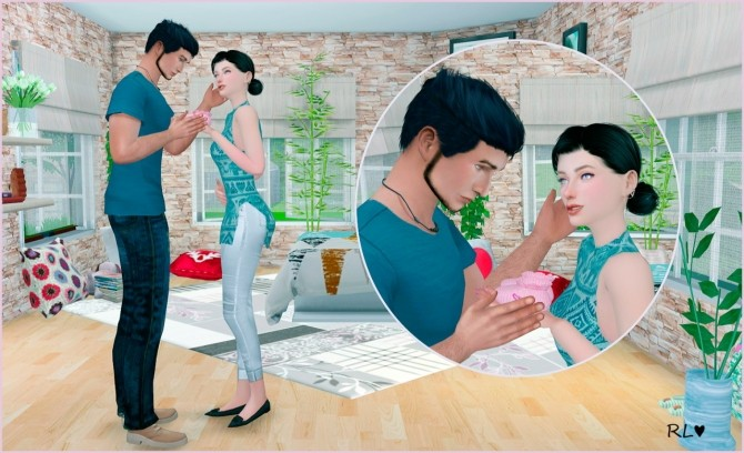 Sims 4 3 couple+ 3 solo poses at Rethdis love