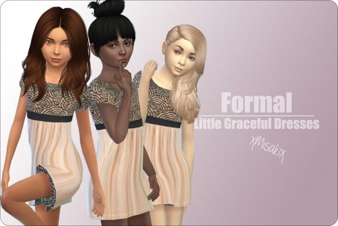 Sims 4 Little Graceful Dresses at xMisakix Sims