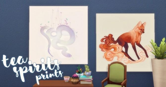 Tea Spirits Prints at Hamburger Cakes image 2891 670x353 Sims 4 Updates
