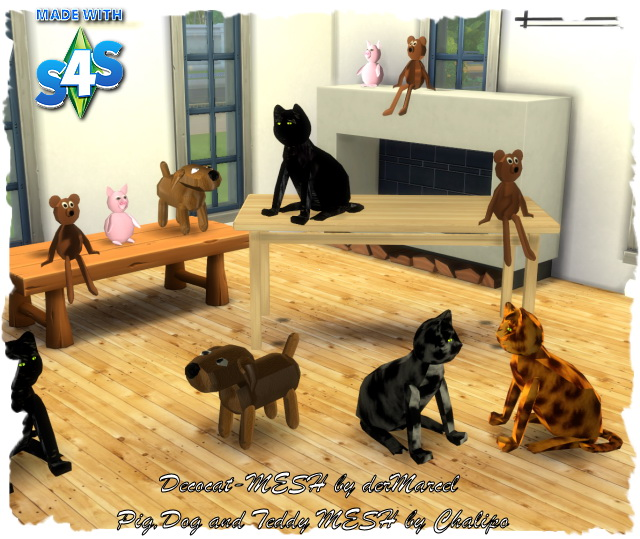 Sims 4 Deco animals by Chalipo at All 4 Sims