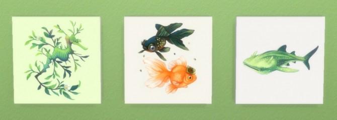 Tea Spirits Prints at Hamburger Cakes image 2911 670x239 Sims 4 Updates