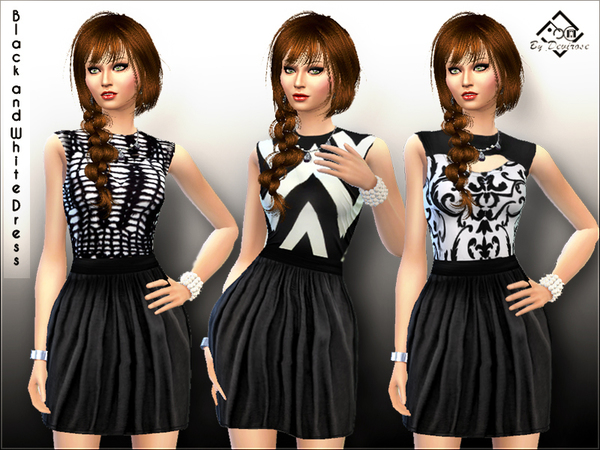 Black and White Dress by Devirose at TSR image 2930 Sims 4 Updates