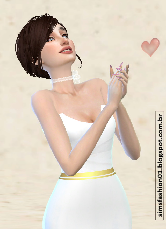 Satin Wedding Dress With Gold Belt at Sims Fashion01 image 2991 Sims 4 Updates
