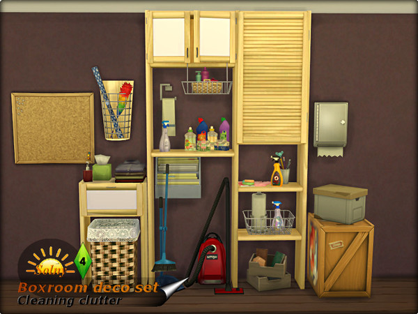 Boxroom decorative set by Solny at TSR image 3 Sims 4 Updates