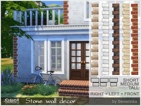 Stone wall decor by Severinka at TSR image 3017 Sims 4 Updates