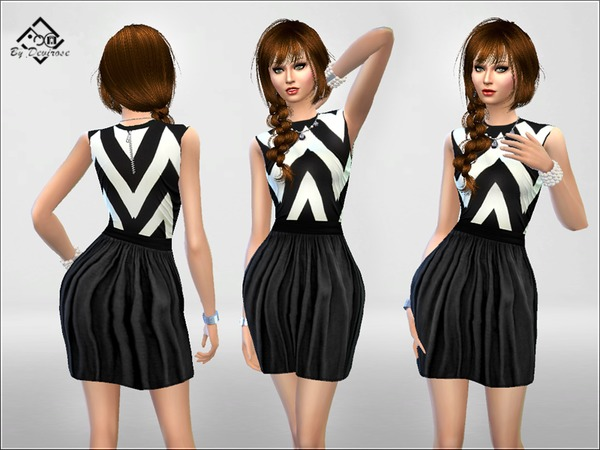 Black and White Dress by Devirose at TSR image 3029 Sims 4 Updates