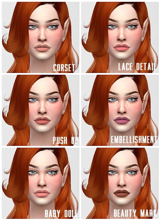 Sims 4 Nyx lips updated at Sims by Skye