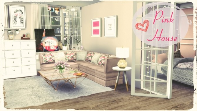 Pink House At Dinha Gamer 187 Sims 4 Updates