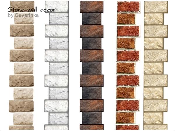 Stone wall decor by Severinka at TSR image 3117 Sims 4 Updates