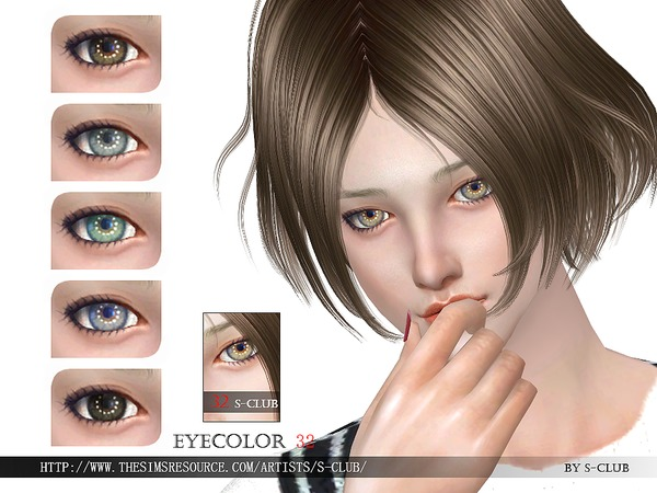 Sims 4 Eyecolor 32 by S Club WM at TSR