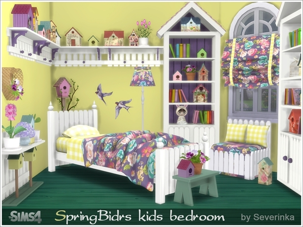 Spring birds kids bedroom by severinka at tsr sims 4 updates for Bedroom designs sims 4