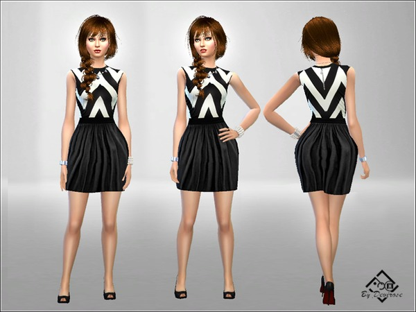 Black and White Dress by Devirose at TSR image 3147 Sims 4 Updates