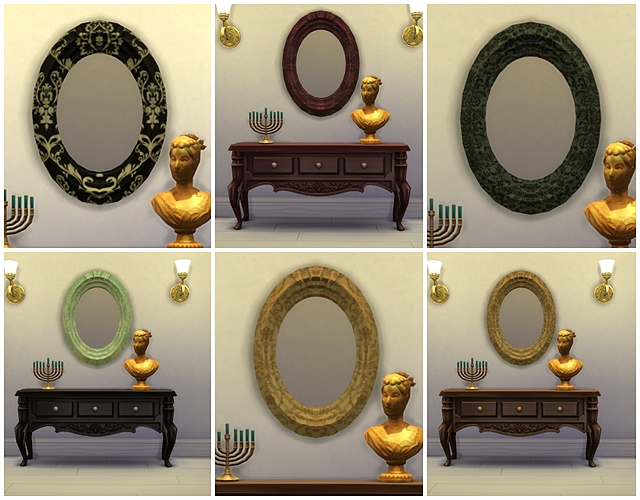Sims 4 Victoria mirrors by Meryane at Beauty Sims