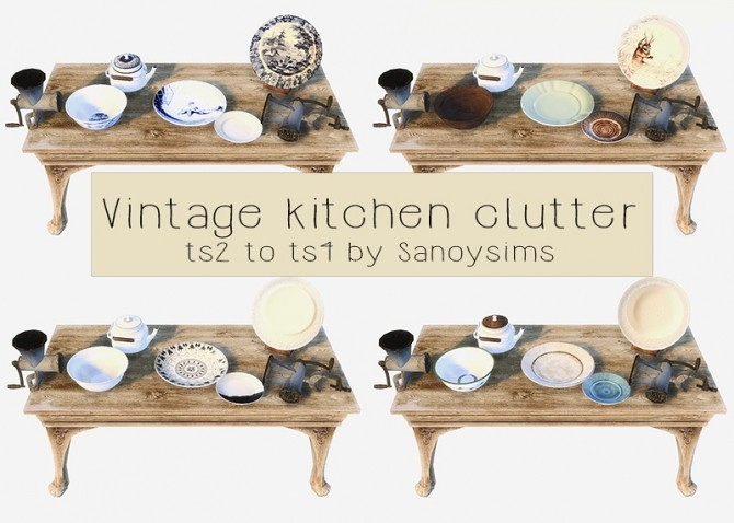 Vintage Kitchen Clutter At Sanoy Sims Sims 4 Updates