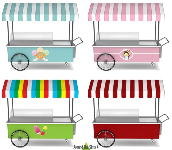 Sims 4 Ice Cream Stand by Sandy at Around the Sims 4