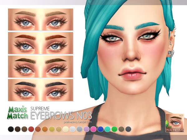 Sims 4 Maxis Match Eyebrow Pack N01 by Pralinesims at TSR