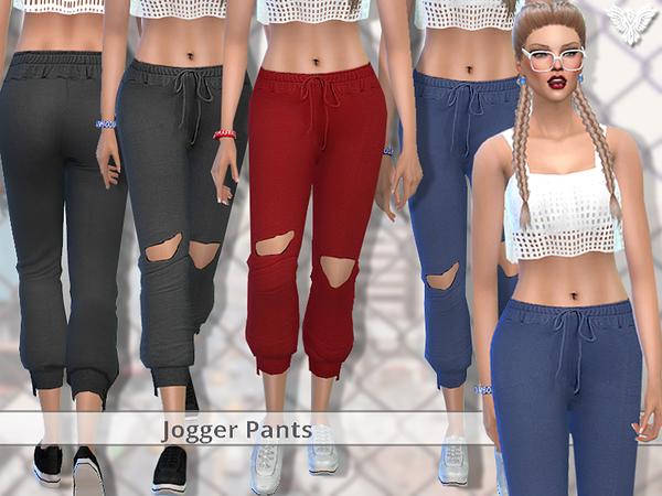 Sims 4 PZC Realistic Jogger Pants by Pinkzombiecupcakes at TSR