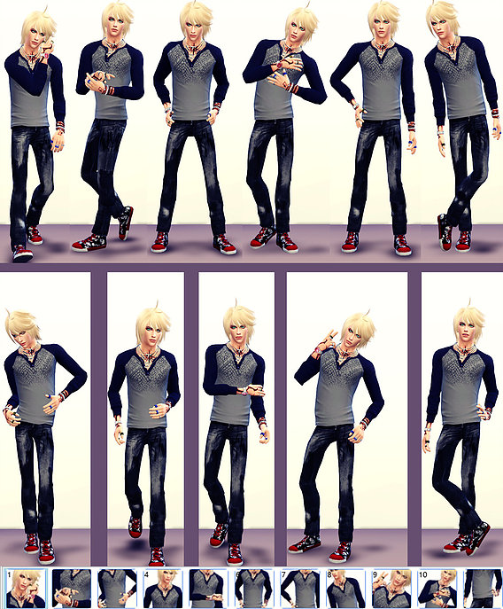 Sims 4 SKC Male Poses set 2 at Studio K Creation