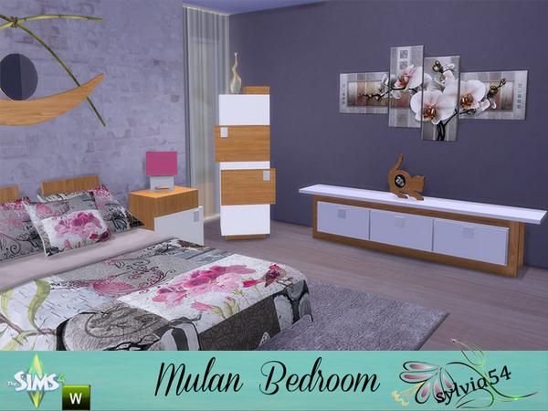 Sims 4 Mulan Bedroom by sylvia54 at TSR